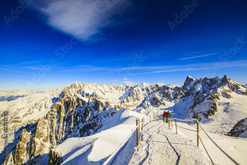 Valle Blanche starting point from the Aiguille du Midi, Mont Bla Canvas Print