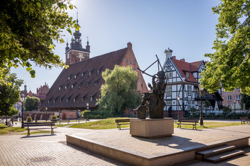 The Great Mill on the Radaune Island in the center of Gdansk is one of the largest commercial buildings of the Middle Ages.