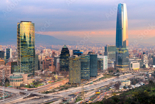 Skyline of Santiago de Chile Wallpaper Mural