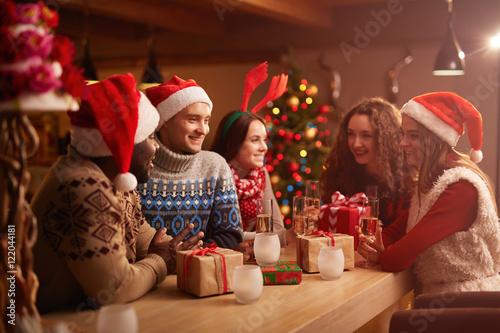 Photo  Christmas gathering