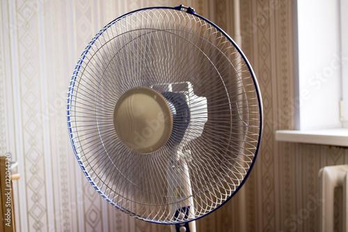 Fototapeta electric fan in the room. Operated ventilator obraz na płótnie
