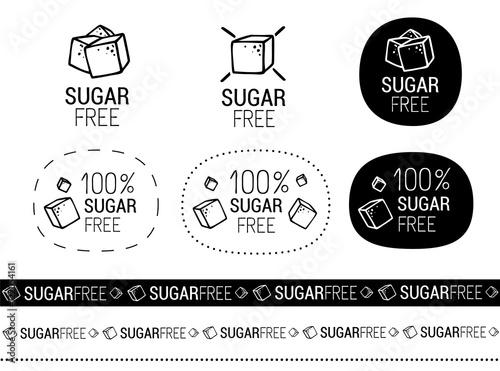 Obraz na płótnie vector sugar free signs