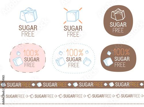 Obraz na płótnie vector sugar free sign set