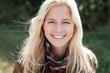 canvas print picture - Outdoor portrait of a blonde woman