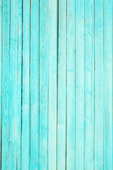 Green texture of old paint on wood planks