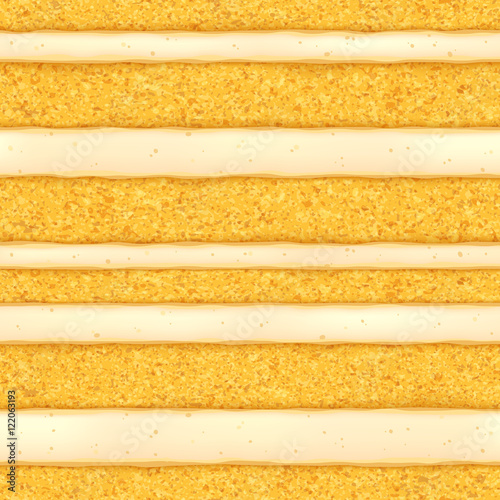 Sponge cake background. Colorful seamless texture. Canvas Print