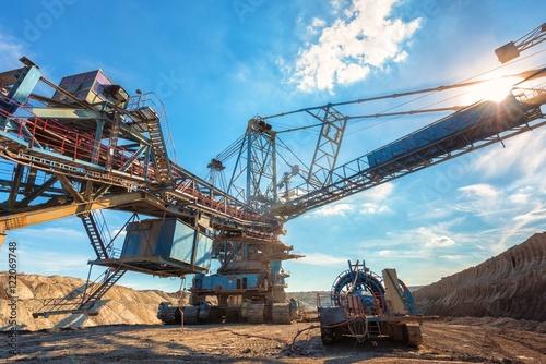 Valokuva  Large excavator machine in the mine