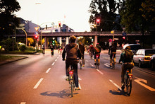 Biking Youngsters In City