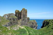 Castle Blending Into Cliff