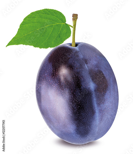 plum on a white Wallpaper Mural
