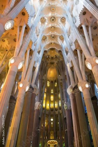 Papiers peints Barcelona Interior of Sagrada Familia in Barcelona, Spain