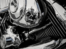 Motorcycle Engine As Background