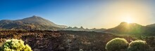 """Panorama Of """"Las Cañadas"""" With Volcano """"Teide"""" At Tenerife, Canary Islands, At Sunrise"""