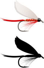 Fishing Dry Fly Red