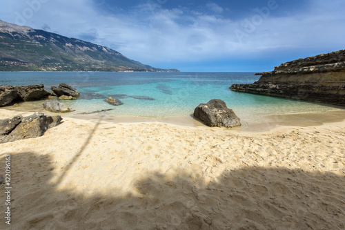 Foto op Canvas Eiland Rocks in the water of Pesada beach, Kefalonia, Ionian islands, Greece