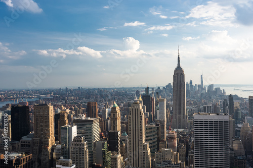 Photo  Downtown Manhattan Skyline with the Empire State Building, New York City