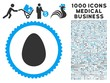 Egg icon with 1000 medical commerce gray and blue vector pictograms. Collection style is flat bicolor symbols, white background.