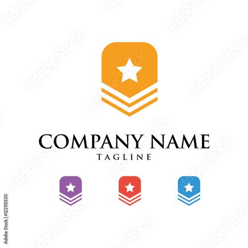 Fotografie, Obraz  Military Army Logo Icon Vector