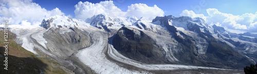Glaciers at Gornergrat near Zermatt, Switzerland
