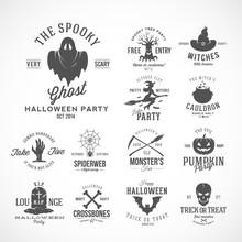 Vintage Halloween Vector Badge...