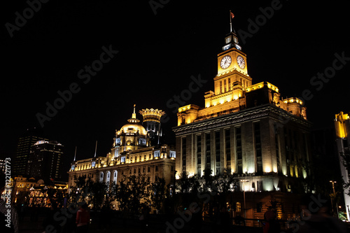 Shanghai - Bund bei Nacht Poster