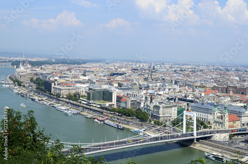 Garden Poster London Panoramic view of Budapest from Citadella hill, Hungary