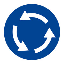Roundabout Crossroad Sign