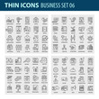 Modern thin line icons set for business