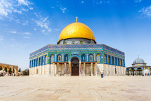 The Dome Of The Rock On The Temple Mount In Jerusalem, Israel. Religion.