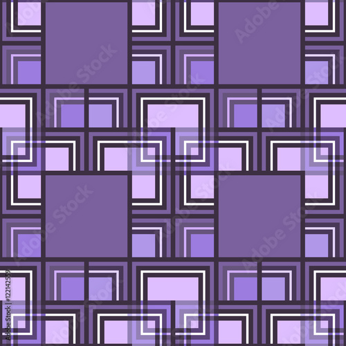 Seamless pattern of colored squares Poster