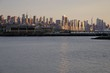 View of the Manhattan skyline in New York City seen from Edgewater, New Jersey