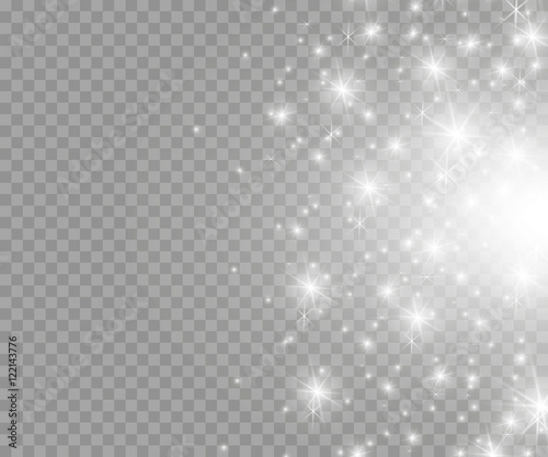 Fotografia Vector glowing stars, lights and sparkles. Transparent effects