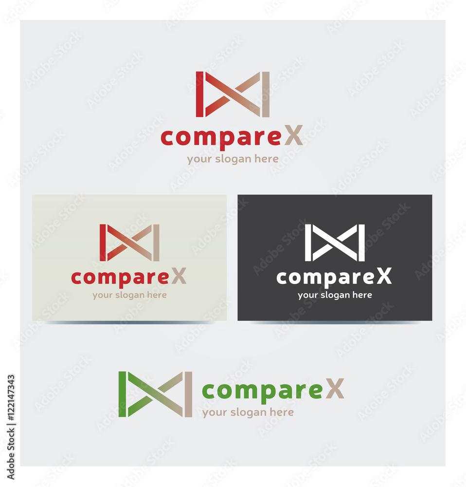 Logo Icone Infinite Lettre X Carte De Visite Et Charte Graphique Entreprise Plus Foto Poster Wandbilder Bei EuroPosters