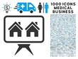 Realty Project icon with 1000 medical business gray and blue vector design elements. Set style is flat bicolor symbols, white background.