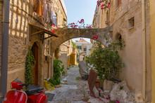 Straße In Rhodos, Griechische Insel