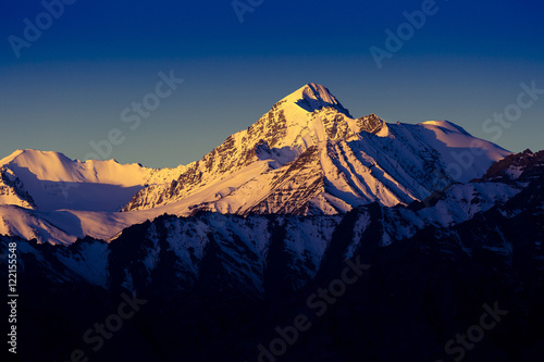 Himalayan mountain range during sunrise at morning time.