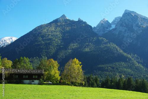 Recess Fitting Mountains Le Hochkalter depuis les prés de Ramsau bei Berchtesgaden