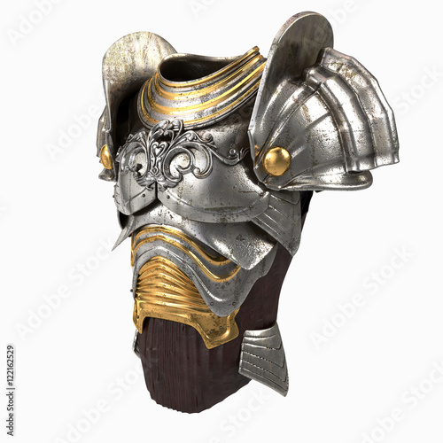 armor 3d illustration isolated Canvas Print