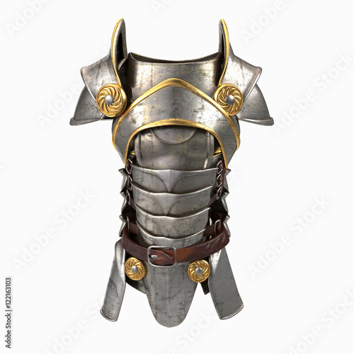 armor 3d illustration isolated Wallpaper Mural