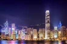 Hong Kong City Twilight Time.