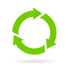 Green Recycled Cycle Icon