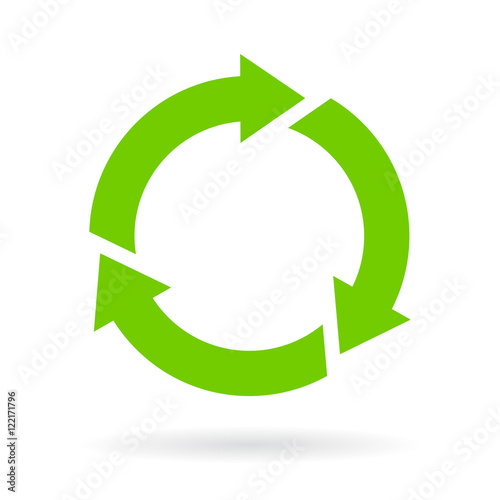 Green recycled cycle icon Canvas
