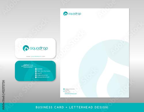 Fototapeta Modern Blue  horizontal Business Card and letterhead obraz