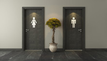 Black Restroom Doors For Male ...