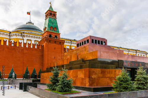 Fotografia Moscow Kremlin and Lenin's Mausoleum