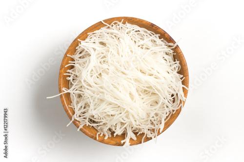 Fotografía Chinese Noodles. Rice vermicelli Pasta into a bowl