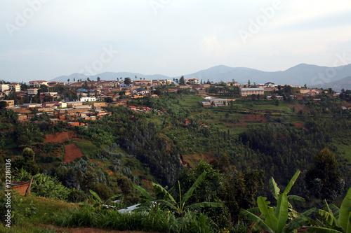 Fotografia  village of Murambi, southern Rwanda, housing the Murambi Genocide Memorial Centr