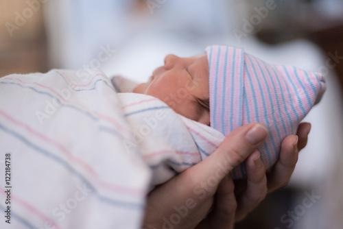 A newborn baby boy Canvas Print