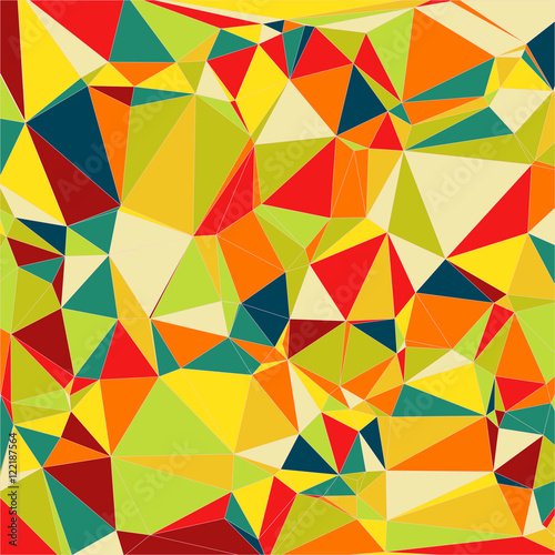 Cuadros en Lienzo Abstract light colorful Triangle Polygonal Geometrical Background, Vector Illustration EPS10