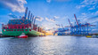 canvas print picture - Container Ship Port